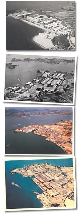 因島鉄工業団地の発展による風景の変遷